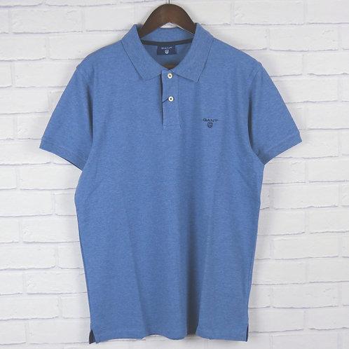 Gant Rugger Blue Marl Pique SS Polo