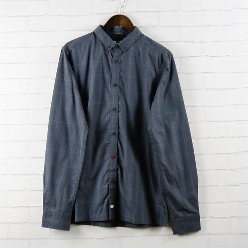 Weekend Offender Duffy Check Grey Shirt