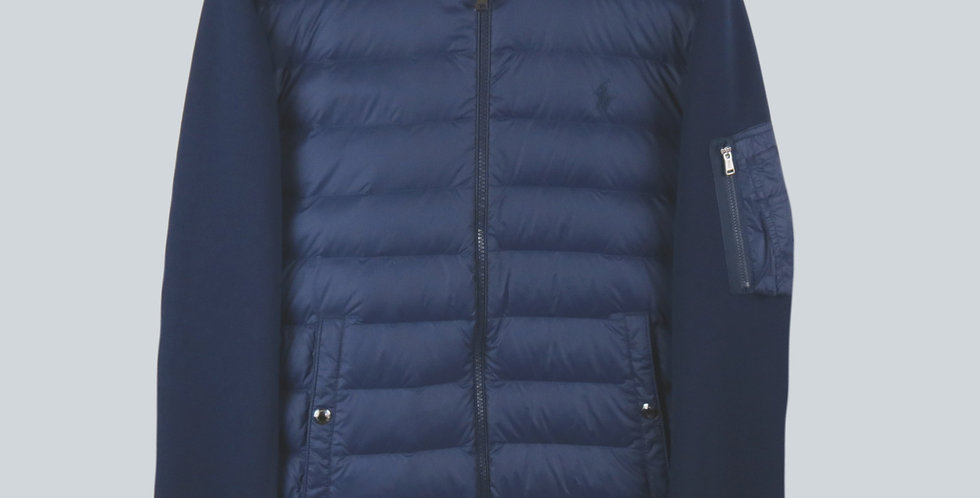 Polo Ralph Lauren Performance Down Bomber Jacket Navy With Red & White Piping