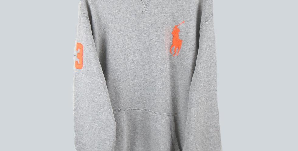 Polo Ralph Lauren Grey Large Pony Hooded Sweatshirt