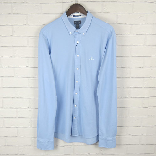 Gant Blue Slim Piqué Shirt