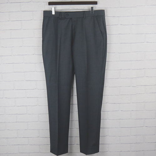 Charcoal Sharkskin Suit Trouser