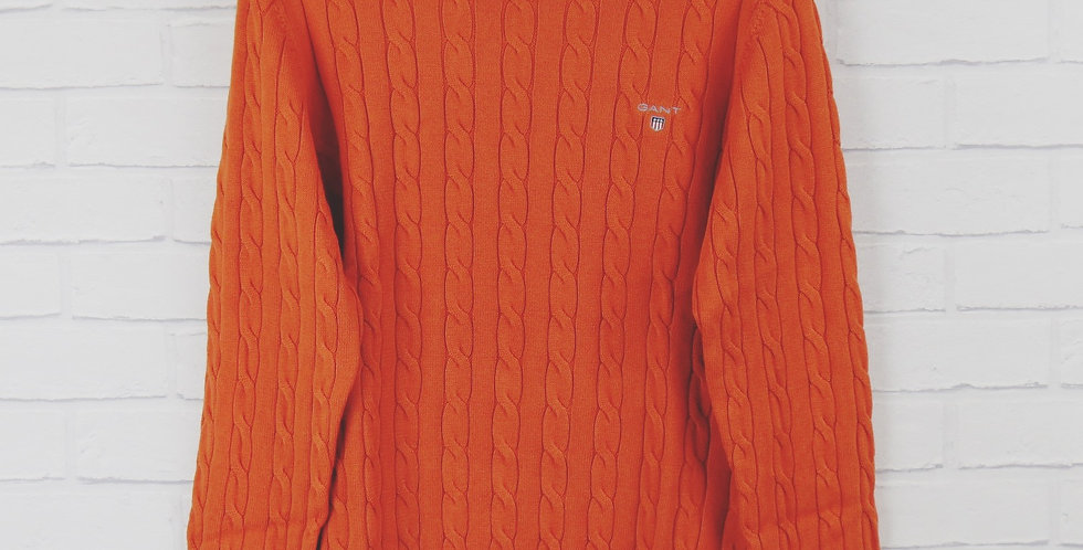 Gant Orange Cable Crew Sweater