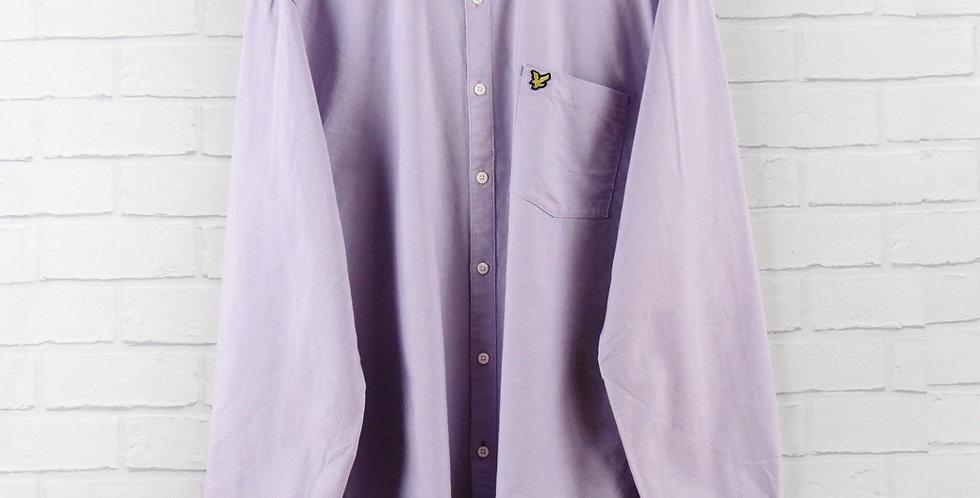 Lyle & Scott Purple Oxford