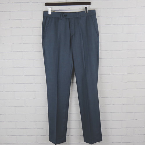 Blue Sharkskin Suit Trouser