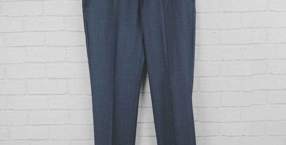 Blue Sharkskin Suit Trouser