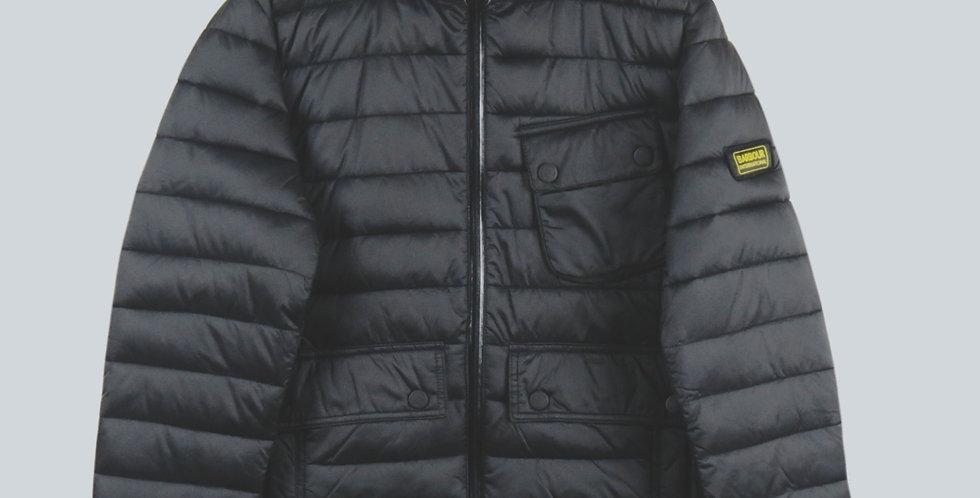 Barbour Black Ouston Puffa Jacket