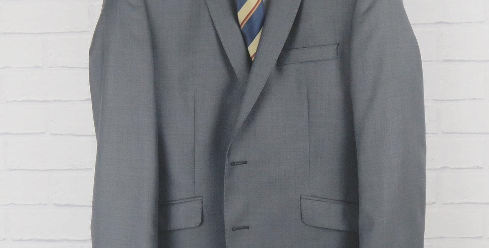 Charcoal Sharkskin Suit Blazer