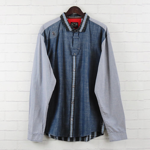 Luke 1977 Denim Panel Shirt