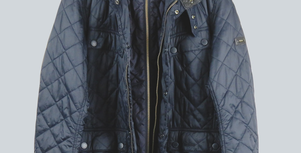 Barbour Windshield Quilt Jacket Navy