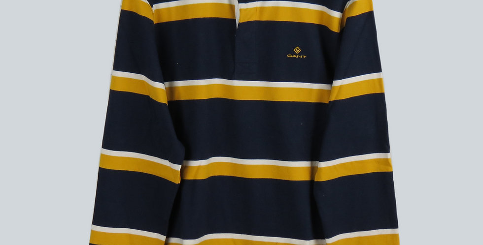 Gant Rugby Jersey Navy/Yellow/White