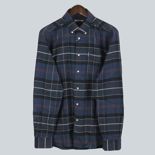 Barbour Lustleigh Shirt - Navy Marl Tartan