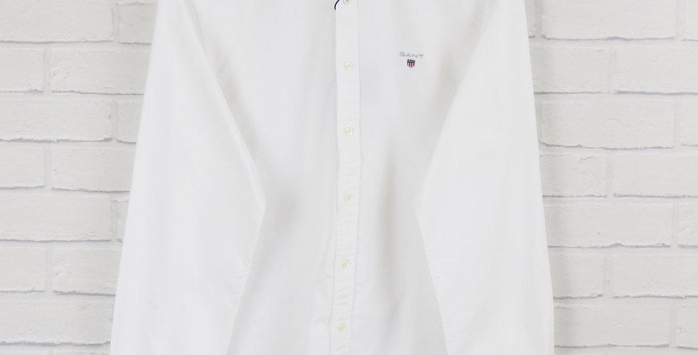 Gant Slim Fit White Oxford Shirt