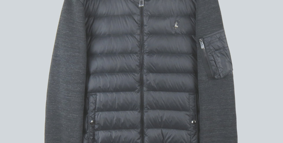 Polo Ralph Lauren Performance Down Bomber Jacket Black and Charcoal