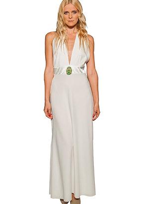 Ivory Halter Neck Gown