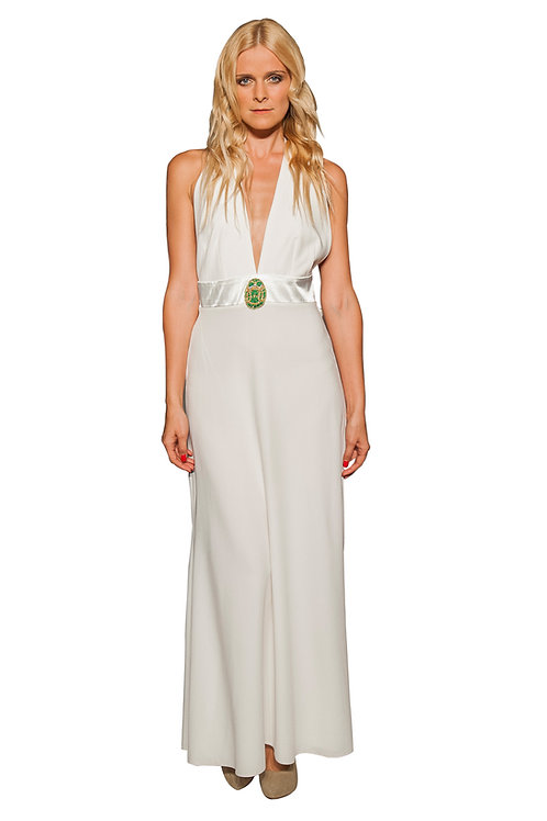 Ivory Halter Neck Gown
