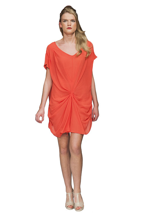 Coral Beach Kaftan Dress