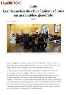 Yzeure Judo / Assemblée générale / Yzeure