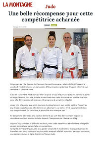 Juliette Diollot / Yzeure judo / Ceintue noire