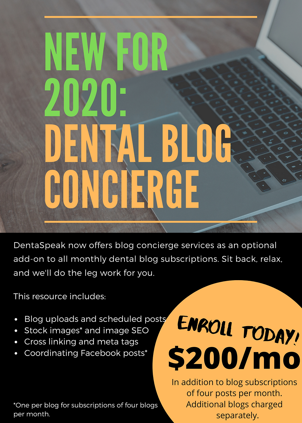 Dental concierge services for $200/mo.