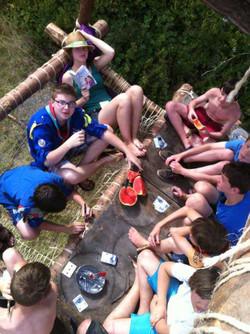 Camp éclaireurs 2012