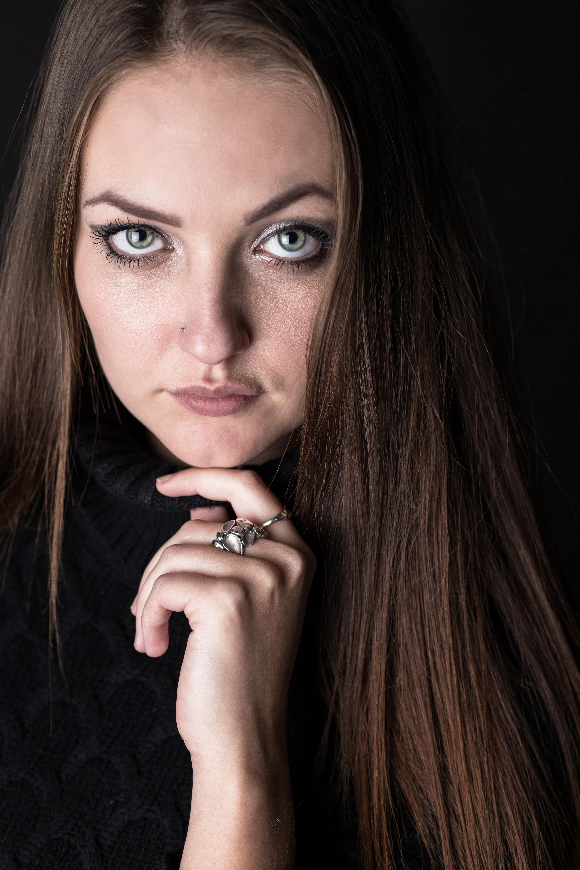 portrait close up studio shoot