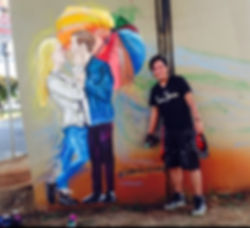 Arte nas ruas / pintando nas ruas / pintando felicidades