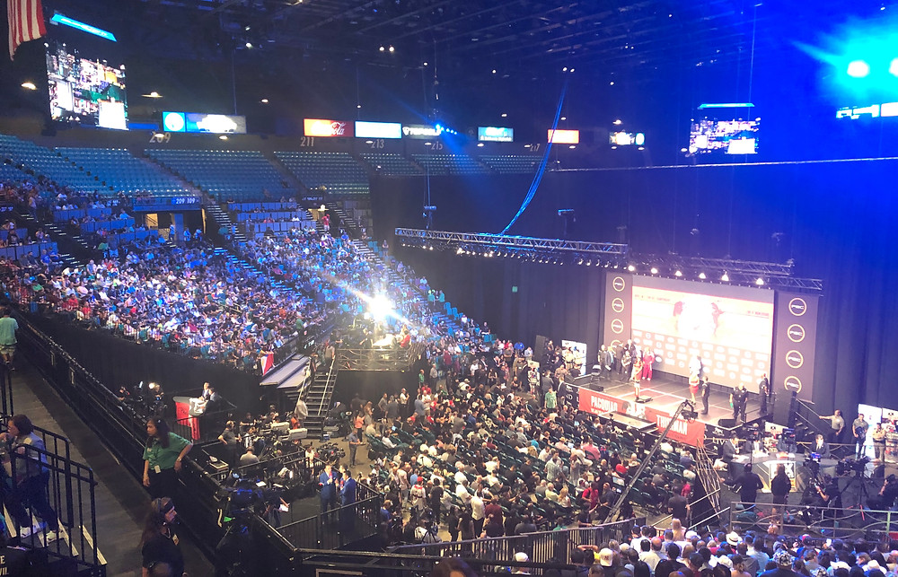 The MGM Grand Garden Arena during the Manny Pacquiao - Keith Thurman fight weekend.