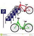 bicycle-parking-two-bicycles-simple-flat