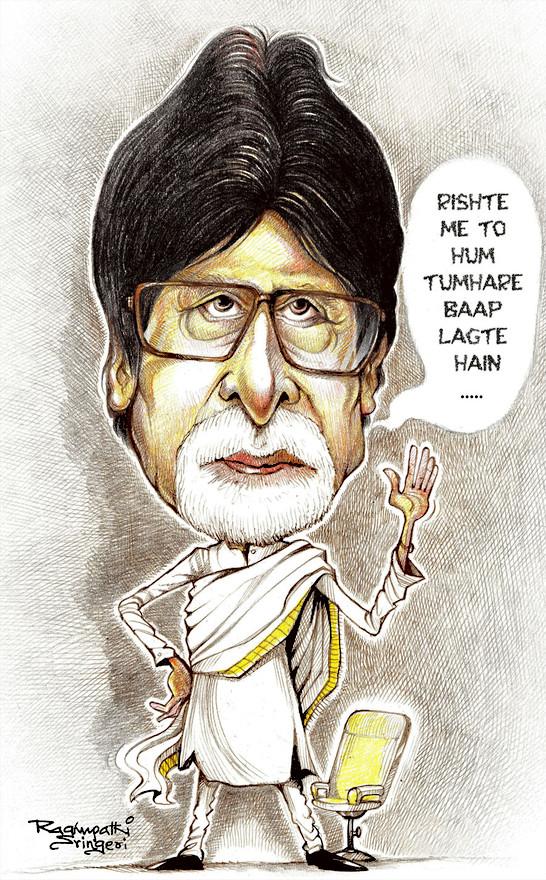 Amitabh_Caricature_Raghupathi_Bangalore2