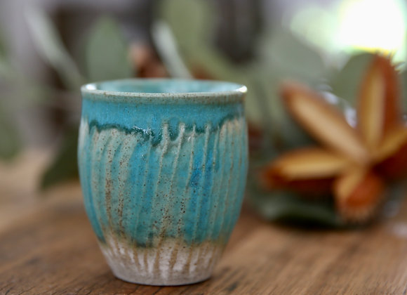 small ridged pot