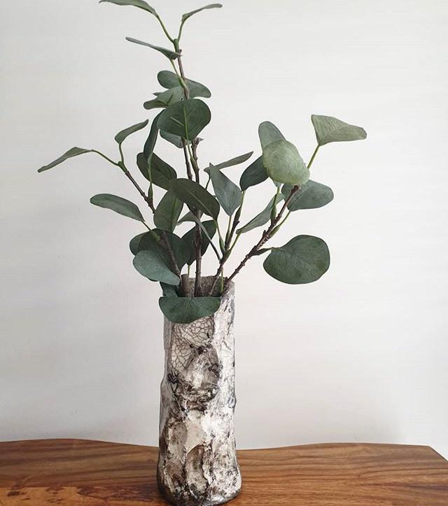 My first Raku vase