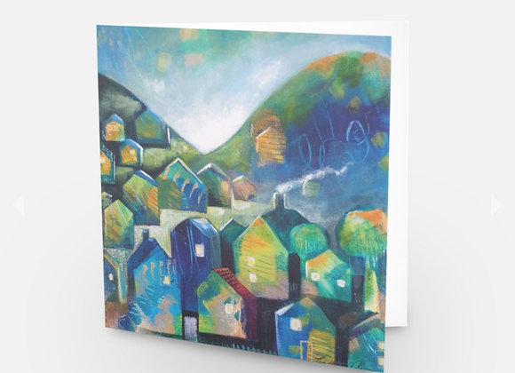 Houses and Hills Card