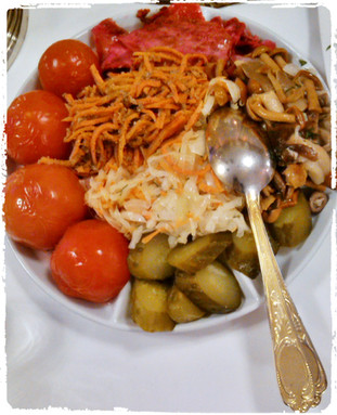Eingelegte Gemüse nach Art des Hauses