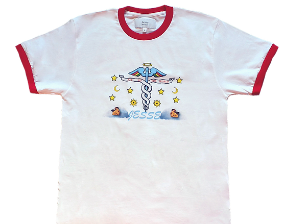 Cherry Caduceus Tee