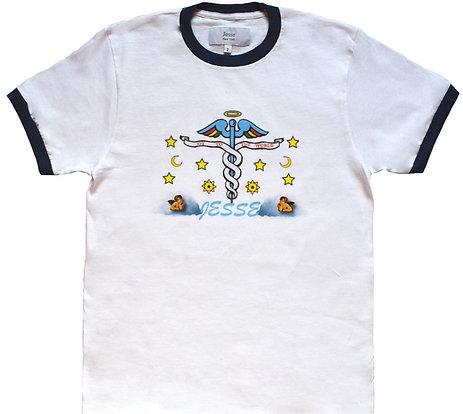 Navy Caduceus Tee