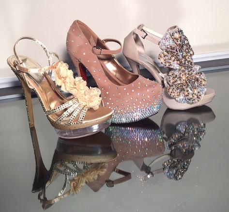 Swarovski crystal shoes