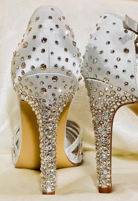 Swarovski crystal heels