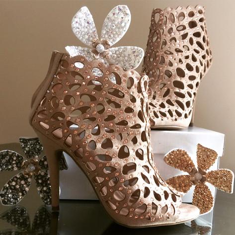 Swaovski crystal shoes