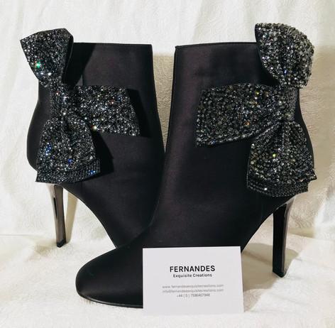 Swarovski crystal boots