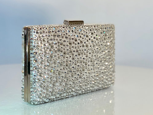 Swarovski Clutch - Silver Shadow