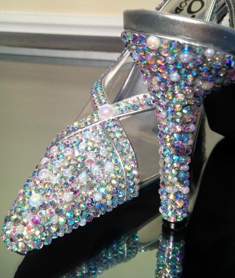 Swarovski crystal wedding shoes