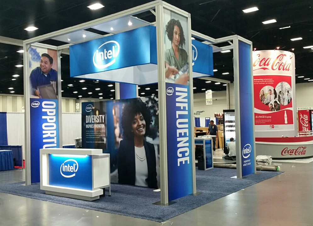 Intel's 20x20 exhibit at show site