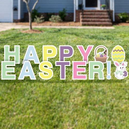 Yard Sign Set - Happy Easter
