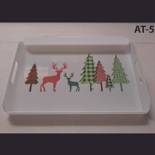 AT-5 Reindeer Printed Acrylic Tray