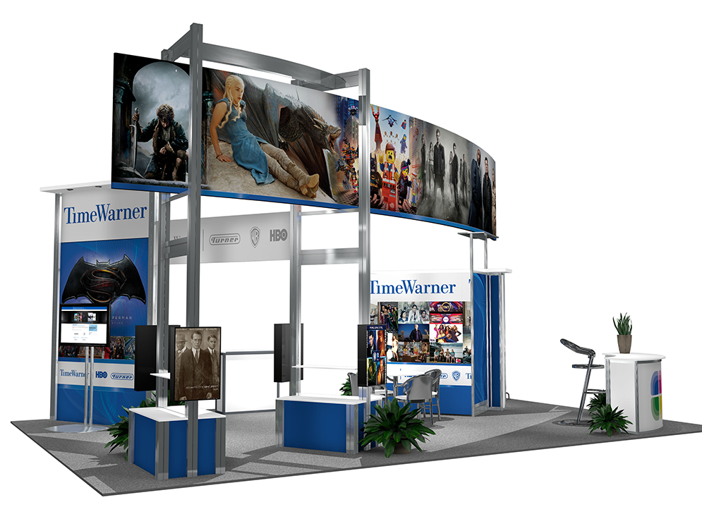 Time Warner's 20x30 booth rendering2