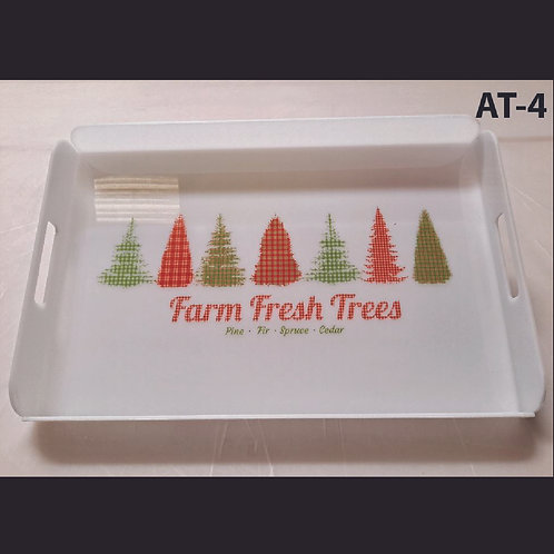 AT-4 Farm Fresh Printed Acrylic Tray