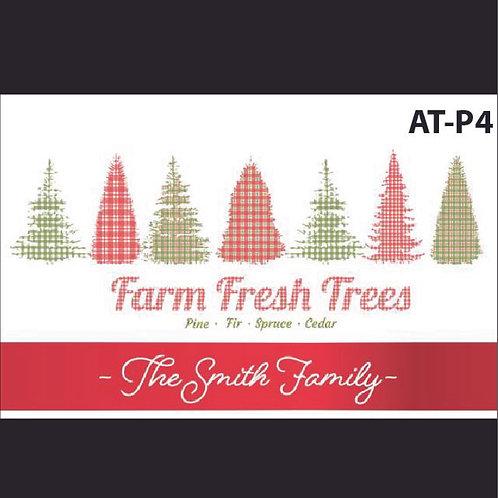 AT-P4 Personalized Farm Fresh Printed Acrylic Tray