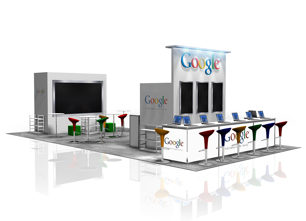 Google 20x40  booth rendering