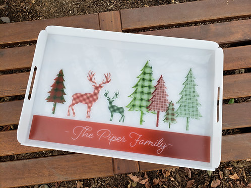 Personalized Printed Acrylic Tray - Large
